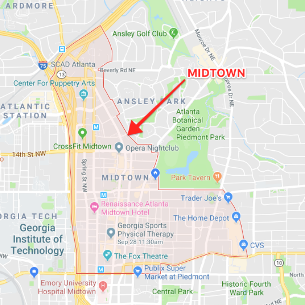 Midtown Atlanta Map